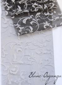 Art de la table blanc organza - Chemin de table noir et blanc ...